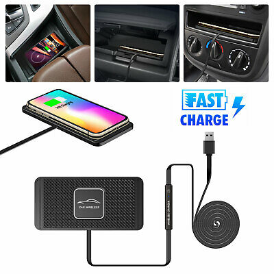 Qi Wireless Fast Charger Magnetic Car Mount Holder For iPhone X 8 Samsung S8 S9