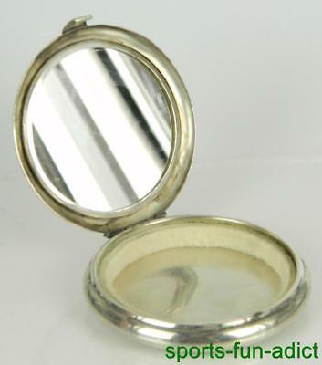 "vtg Estate TIFFANY & CO 925 Sterling Silver 3"" Mirrored Compact"