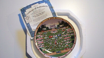 Charles Wysocki's Days to Remember Plate July The White House 4th of July Picnic