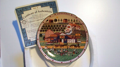 Charles Wysocki's Days to Remember Plate September Apple Butter Makers