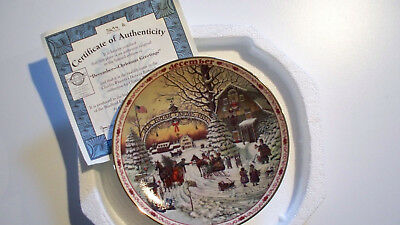 Charles Wysocki's Days to Remember Plate December Christmas Greetings