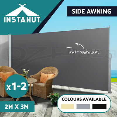 Instahut 2MX3M Retractable Side Awning Shade Home Garden Terrace Screen Panel