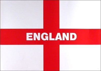 Large England Flag 5Ft X 3Ft St George Cross English Eyelets Football World Cup
