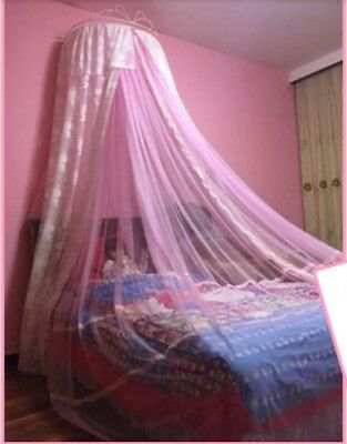 Queen Size Pink Lace Ceiling Mosquito Net Bedding Bed Curtain Netting Canopy .