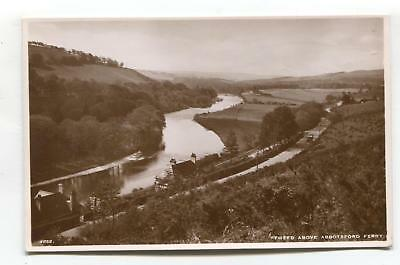 Near Abbotsford Ferry - River Tweed, buildings - c1940's real photo postcard