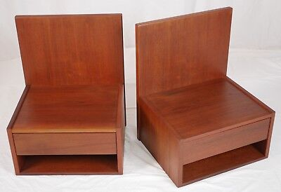Modern Danish Design Mid Century - TEAK BEDSIDE TABLES by HANS J. WEGNER