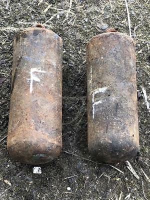 PAIR ANTIQUE 8 DAY 11LB / 10LB CAST IRON LONGCASE GRANDFATHER CLOCK WEIGHTS LOTf