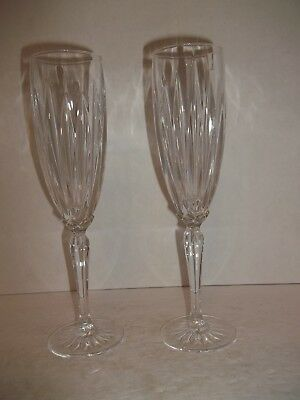 Elegant Lead Crystal Glass Tulip Champagne Flutes Wine Glasses Stemware 9.4""