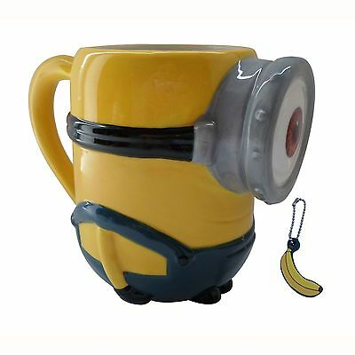 Minions Stuart 3D Ceramic Despicable Me Mug With Banana Scented Charm Gifts Kids