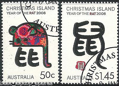 2008 Christmas Island Lunar Year - Year of the Rat - Set CTO