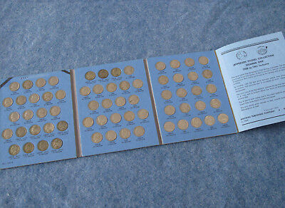 1938-1961-PD Jefferson Nickel Complete Set of 65 Coins E0874