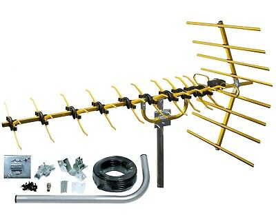 Digital TV Aerial kit 48 Element HD Freeview outdoor loft build arial 4G filter