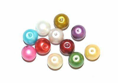 Matt Finish Glass Pearl Craft Beads - Various Sizes And Colours Available