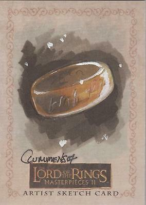 """Lord of the Rings Masterpieces II - Cythia Cummens """"The One Ring"""" Sketch Card"""
