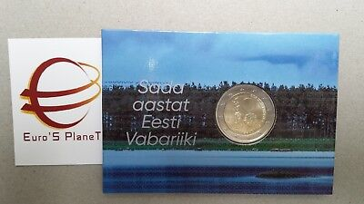 coin card 2 euro 2018 BU ESTONIA 100 Repubblica Eesti Estonie Estland Эстония