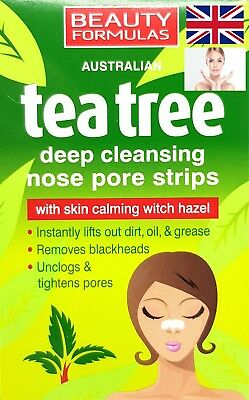 Nose Pore Strips Tea Tree Blackhead Removal Smooth Deep Cleansing Unclog Pores