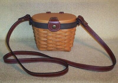 Longaberger Collector's Club Edition 2000 Signed Small Saddlebrook Purse W/liner