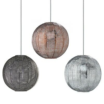 Moroccan Style Metal Round Ball Ceiling Light Shade Chandelier Fitting Lampshade
