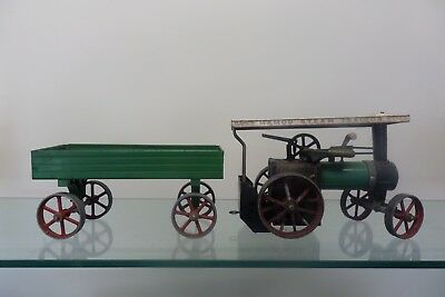 vintage mamod steam tractor TE1A and trailer