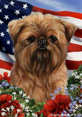 Garden Indoor/Outdoor Patriotic I Flag - Brussels Griffon 161281