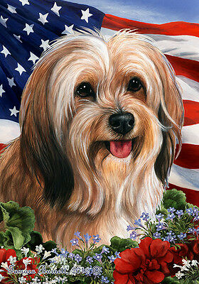 Garden Indoor/Outdoor Patriotic I Flag - Sable Tibetan Terrier 164801