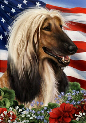 Garden Indoor/Outdoor Patriotic I Flag - Afghan Hound 160871