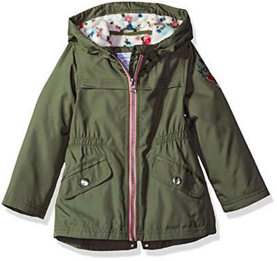 Carter's Girls' Olive Fleece Lined Jacket Size 4 5/6 7/8 $44