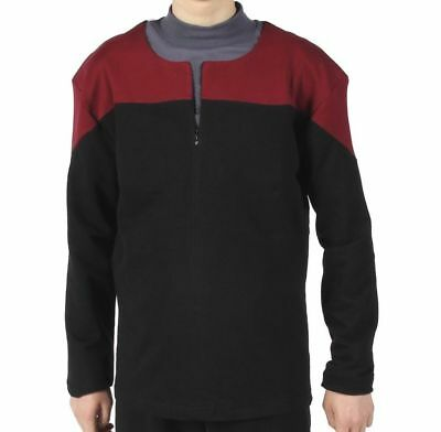 STAR TREK Uniform Voyager DS9 - Captain - Rot Größe  XXL - Baumwolle
