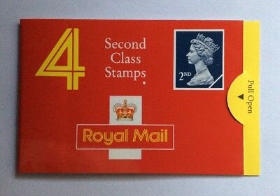 GB: 4 x 2nd Class Dark Blue, Folded Booklet, Mint Cond, MNH Stamps
