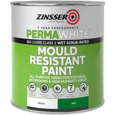 Zinsser Perma-White Interior Matt Mould Resistant Paint For High Humidity 1L