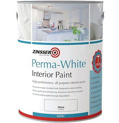 Zinsser Perma-White Interior Satin Mould Resistant Paint For High Humidity 5L