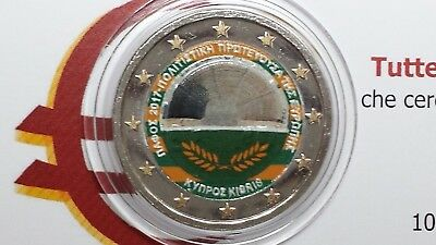 2 euro 2017 CIPRO farbe color couleur cor Chypre Cyprus Zibrus Zypern Кипр II ty