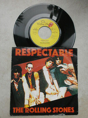 Single - Rolling Stones - Respectable / Just my imagination - Beat - 60er Jahre
