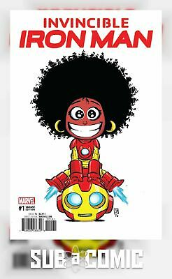 INVINCIBLE IRON MAN #1 YOUNG VARIANT NOW (MARVEL 2016 1st Print)