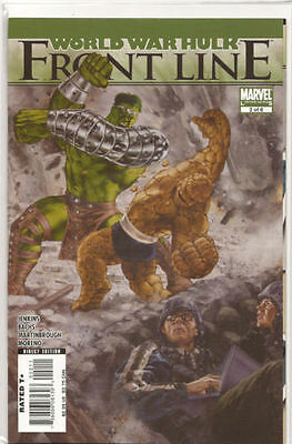 The Incredible Hulk # 2 0f 6 N/M Marvel World War Hulk Frontline Comic Limited