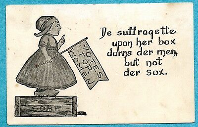 A7264 Postcard - Suffragette on Soapbox