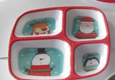1 x Christmas serving Melamine 4 Section Tray.