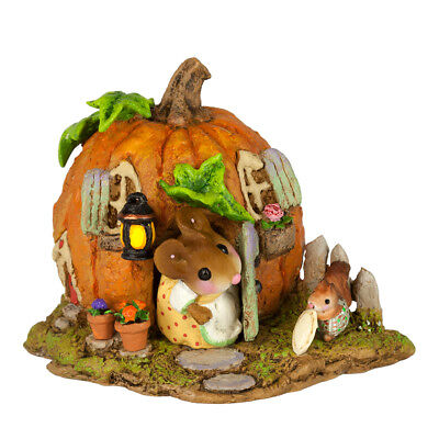 WEE PUMPKIN BUNGALOW by Wee Forest Folk, WFF#M-619, Halloween Mouse House 2017