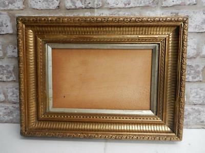 "old picture frame GESSO GILT fits a 11 inch X  7 "" painting"
