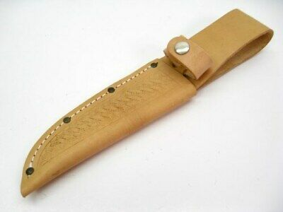 "Natural Color Leather Sheath For Straight Fixed Knife Up To 5"" Blade SH209"