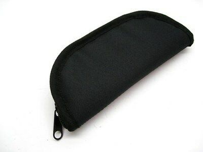 """ZIP UP Black 7"""" Inch Travel Storage Padded PROTECTIVE Knife Case Pouch AC118 New"""