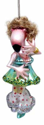 December Diamonds Dancing Flamingo Glass Christmas Tree Ornament 7980130 New
