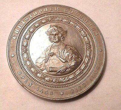 1492-1892 Christopher Columbus Souvenir World's Colombian Exposition Medal