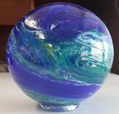 art glass float-Lincoln City Finders Keepers, Oregon, Earth Day, Pyromania, 2003
