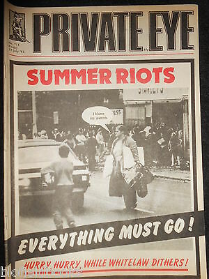 PRIVATE EYE - Vintage Satirical Political News Humour Magazine - 17th July 1981