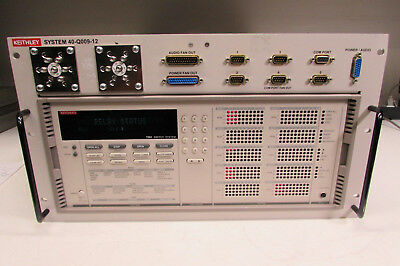 Keithley 40-Q009-12 w/ 7002 Full Rack Switch Mainframe 10 Slot, 5 modules