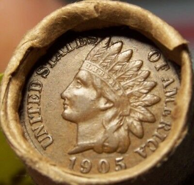 1905 Indian/tail Indian Ends Unsearched Estate Old Roll Wheat/indian Cents #8718