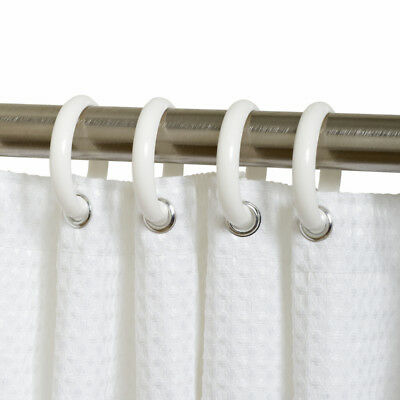 Zenith SSR01WW White Shower Curtain Rings 12 Count