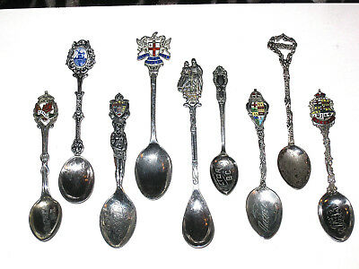 6 Sterling Silver Collector Spoons Plus 3 Others  102.81 Total Grams
