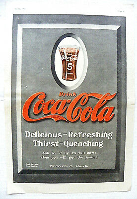 "1913, July.the Ladies' World ""drink Coca-Cola ~ Delicious - Refreshing""  Ad."